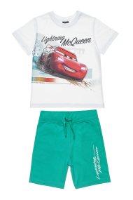 Αlouette παιδικό σετ T-shirt με τύπωμα και βερμούδα Disney Cars McQueen (2-5 ετών) - 00370534 - Λευκό