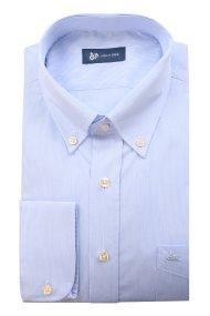 Dur ανδρικό πουκάμισο με ψιλή ρίγα - 11010544 - Γαλάζιο