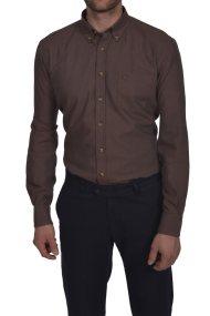Dur ανδρικό μονόχρωμο πουκάμισο button down - 10020606 - Μπεζ