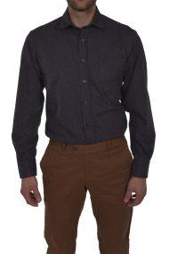 Dur ανδρικό πουκάμισο καρό μελανζέ - 10020615 - Ανθρακί