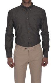 Dur ανδρικό πουκάμισο με μικροσχέδιο πουά - 10020609 - Ανθρακί