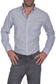 Dur ανδρικό πουκάμισο ριγέ button down Regular fit - 10210043 - Γαλάζιο