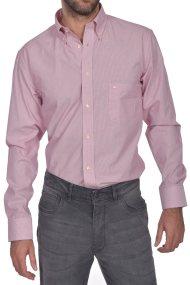 Dur ανδρικό πουκάμισο ριγέ button down Regular fit - 10210043 - Ροζ