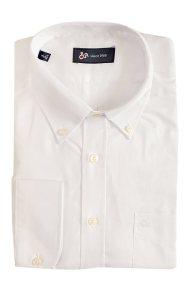 Dur ανδρικό μονόχρωμο πουκάμισο με ανάγλυφη ύφανση - 11010645 - Λευκό