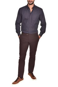 Dur ανδρικό chino παντελόνι μελανζέ Regular fit - 40210277 - Μπορντό