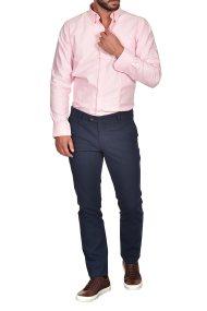 Dur ανδρικό chino παντελόνι μελανζέ Regular fit - 40210277 - Μπλε Marine