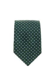 Dur ανδρική jacquard μεταξωτή γραβάτα με σχέδιο λαχούρι - 70200299 - Κυπαρισσί