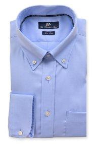 Dur ανδρικό πουκάμισο μονόχρωμο Oxford Business - 10020709 - Μπλε