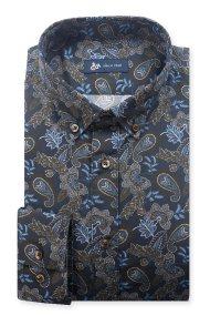 Dur ανδρικό πουκάμισο με σχέδιο λαχούρι - 10210054 - Μπλε