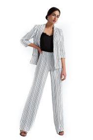 Γυναικεία παντελόνα ριγέ Billy Sabbado - 0905436638 - Εκρού