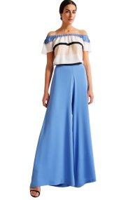 Γυναικεία παντελόνα μονόχρωμη Billy Sabbado - 0902482125 - Μπλε Σκούρο