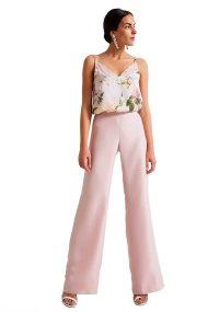 Γυναικεία μονόχρωμη παντελόνα Billy Sabbado - 0904430904 - Ροζ