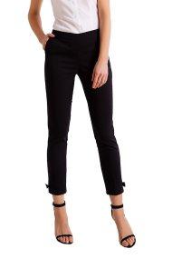 Γυναικείο cropped παντελόνι σε στενή γραμμή Billy Sabbado - 0901487286 - Μαύρο
