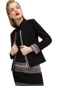 Billy Sabbado γυναικείο σακάκι με κεντήματα και φερμουάρ - 137738547 - Μαύρο
