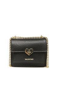 Valentino γυναικείο mini bag με καρδιά και αλυσίδα - 03GVBS1O301/AME - Μαύρο