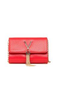Valentino γυναικείο mini bag με μεταλλική φούντα - 03GVBS1R403G/DI - Κόκκινο
