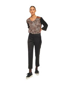 Lucifair γυναικείο παντελόνι cropped ίσια γραμμή - 30707 - Μαύρο