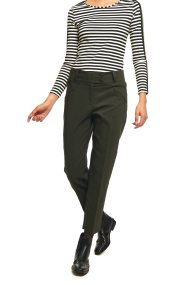 Lucifair γυναικείο μονόχρωμο παντελόνι με γκρο ζώνη - 30692 - Κυπαρισσί