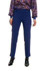 Lucifair γυναικείo υφασμάτινο παντελόνι με κουμπιά - 30702 - Μπλε Ηλεκτρίκ