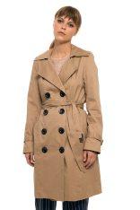 12b25b2c9ba2 Lucifair γυναικεία βαμβακερή καμπαρντίνα μονόχρωμη με κουμπιά - JU RAINCOAT  - Μπεζ