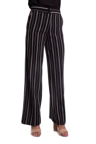 Γυναικεία παντελόνα ριγέ Mia - DES/5918 - Μαύρο