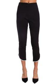 Γυναικείο παντελόνι με λεπτομέρεια στο κάτω μέρος Paul Christophe - 821260 - Μαύρο