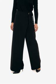 Paul Christophe γυναικεία ψηλόμεση παντελόνα wrap που δένει - 831256 - Μαύρο