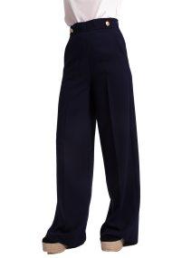 Γυναικεία παντελόνα Emme - 51312285250 - Λευκό - Μπλε