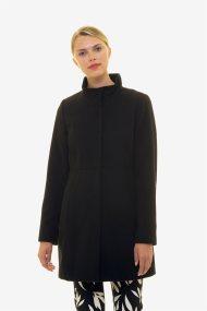 Emme by Marella γυναικείo παλτό με ψηλό γιακά - 50860298250 - Μαύρο