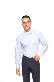 Rollmann ανδρικό πουκάμισο μονόχρωμο Regular fit - 70-020-04932 - Ανοιχτό Γαλάζιο