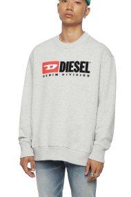 Diesel ανδρικό φούτερ S-Crew-Division - 00SHEP 0CATK - Γκρι