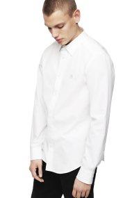 Diesel ανδρικό μονόχρωμο πουκάμισο S-Bill - 00SHYK 0DAUU - Λευκό