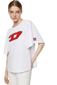 Diesel γυναικείο T-shirt με logo print Jacky-I - 00SWN4 0CATJ - Λευκό