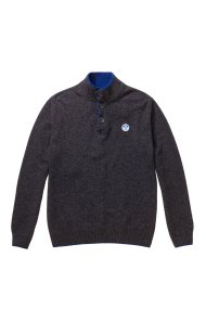 North Sails ανδρικό πλεκτό Ηalf buttons sweater - 699347 - Ανθρακί