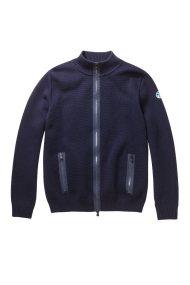 North Sails ανδρική ζακέτα πλεκτή Full zip sweater - 699407 - Μπλε Σκούρο
