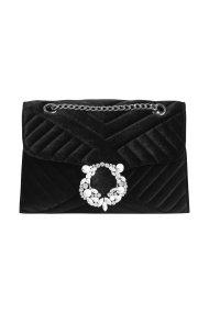 Orsay γυναικεία τσάντα βελούδινη με στρας - 900167-660000 - Μαύρο