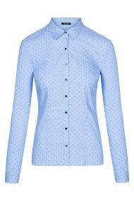 Οrsay γυναικείο πουκάμισο με all over print καρδιές - 690072-506000 - Γαλάζιο