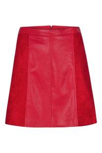 Orsay γυναικεία μίνι φούστα από faux δέρμα και suede - 720179-383000 -  Κόκκινο 57fbc6e89b0