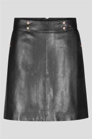 Orsay γυναικεία mini φούστα faux leather - 720221-660000 - Μαυρο