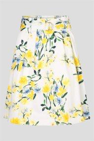 Orsay γυναικεία floral φούστα ψηλόμεση - 722253-000000 - Λευκό