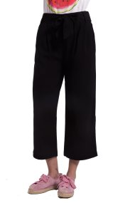 Γυναικεία παντελόνα cropped Fransa - 20603636 - Μαύρο