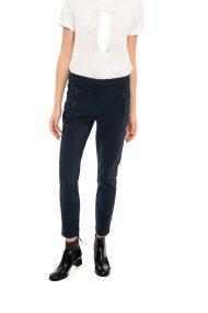Fransa γυναικείο παντελόνι υφασμάτινο με φερμουάρ - 20603400 - Μπλε Σκούρο