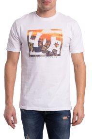 Ανδρικό T-shirt Empire Henge DC Shoes - EDYZT03766 - Άσπρο