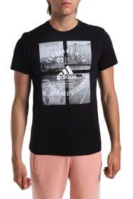 Ανδρικό αθλητικό T-shirt Athletic Vibe Adidas - CV4524 - Μαύρο