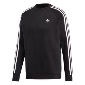 Adidas ανδρικό φούτερ με στρογγυλή λαιμόκοψη 3-Stripes - DV1555 - Μαύρο