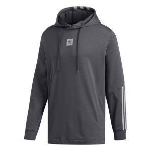 Adidas ανδρικό φούτερ με κουκούλα Cornered - DU8329 - Ανθρακί