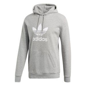 Adidas ανδρικό φούτερ με κουούλα Trefoil - DT7963 - Γκρι