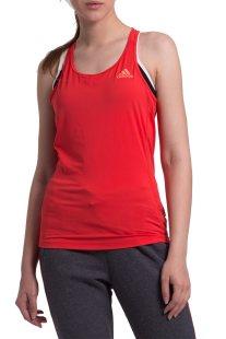 Γυναικεία αθλητική αμάνικη μπλούζα Αdidas - CF6046 - Κοραλί