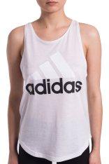 Adidas Γυναικεία λευκή αμάνικη αθλητική μπλούζα Essentials Linear Tank Top Adidas - BR2552 - Λευκό 2018