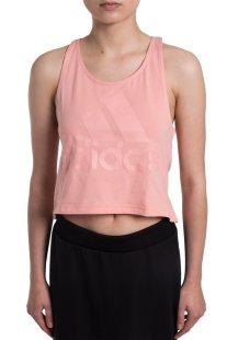 Γυναικείο αθλητικό cropped αμάνικο φανελάκι Adidas - CD7783 - Ροζ